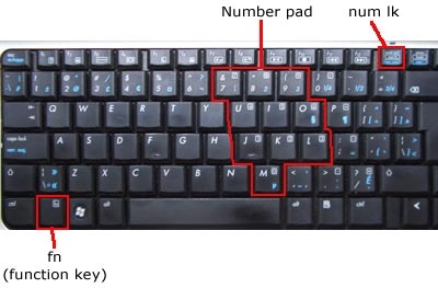 Enable or Disable Numpad on Laptop Keyboard